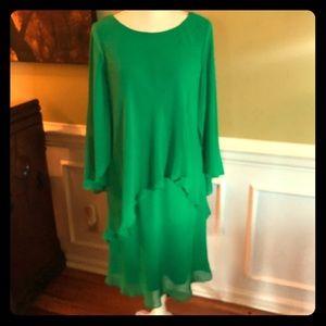 Lauren Ralph Lauren Sheer Layered Dress.